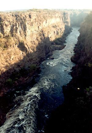 Viktoriiny vodopády - soutězka