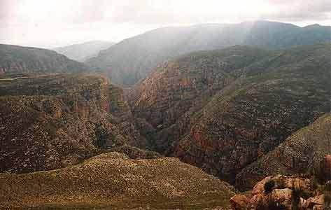 Vrcholky pohoří Swartberge