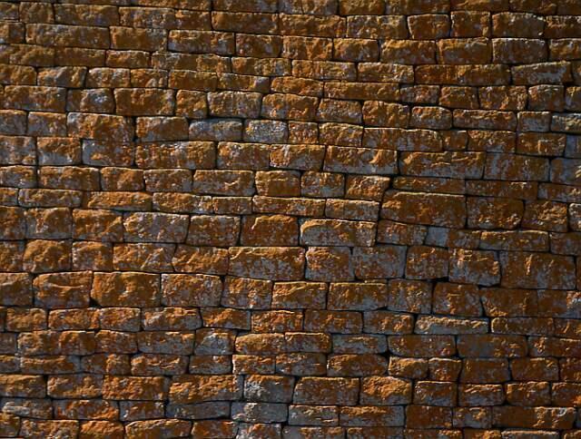 Krásně skládané kameny Velké ohrady