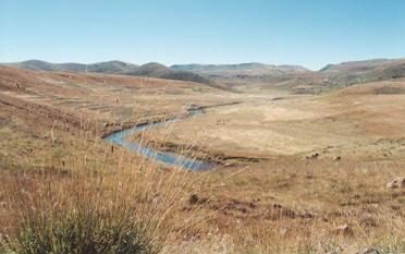 řeka Orange - cenralní oblast