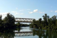 Železniční most přes kanál Pangalanes