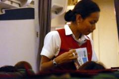 Letuška v letadle Air Madagascar