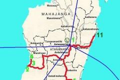 Mapa expedice Aye-Aye expedition