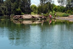 Přeprava dřeva na Canal des Pangalanes