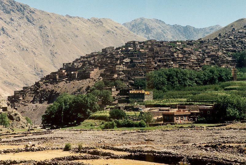 Vesnice Aroumd (Tubkal, Maroko)