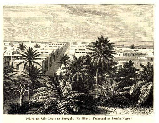 Pohled na Saint Louis na Senegalu
