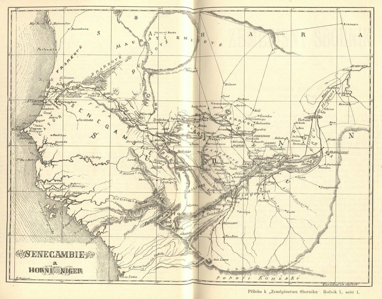 Senegambie - mapa