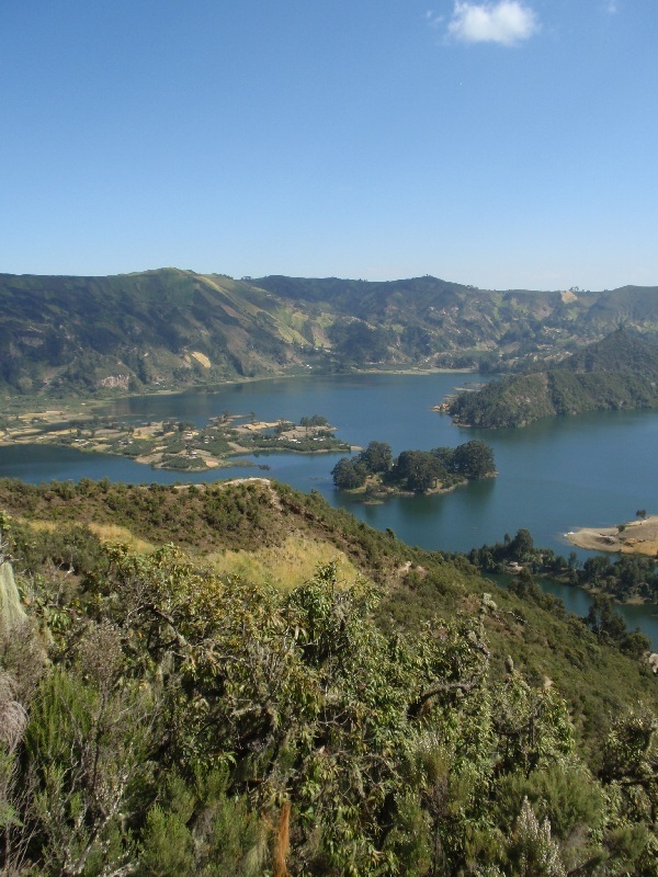 jezero a kráter u Mt. Wenchi, Etiopie (foto: Víťa Glomb)