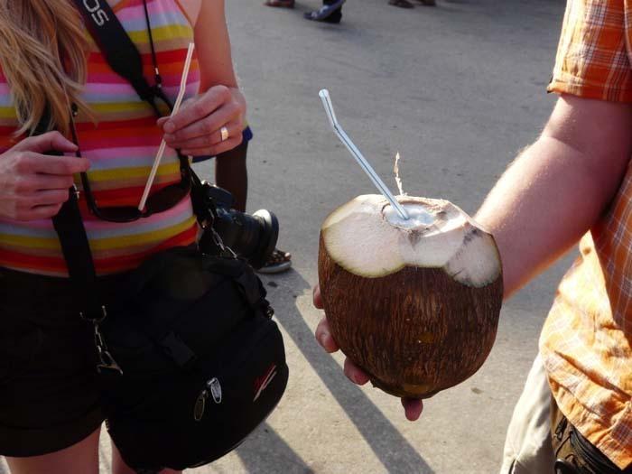 kokosové osvěžení Antananarivo, Madagaskar