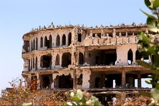Tohle býval hotel Aruba (Mogadišo, Somálsko)