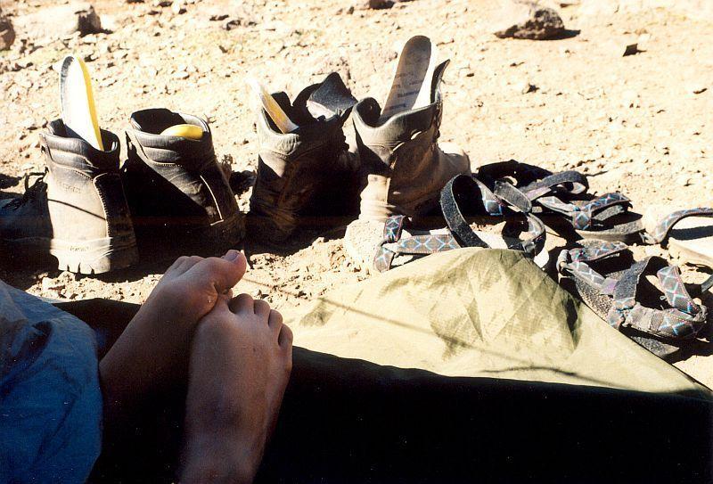 Odpočinek po sestupu (Tubkal, Maroko)