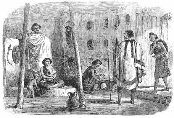 Vnitřek habešského domu
