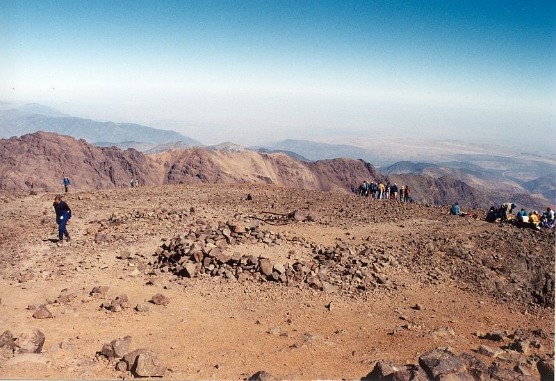 Vrcholová plošina  (Tubkal, Maroko)