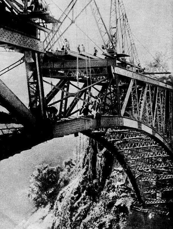 Most Victoria Falls - spojení mostních oblouků