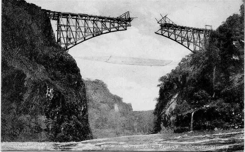 Most Victoria Falls - stavba