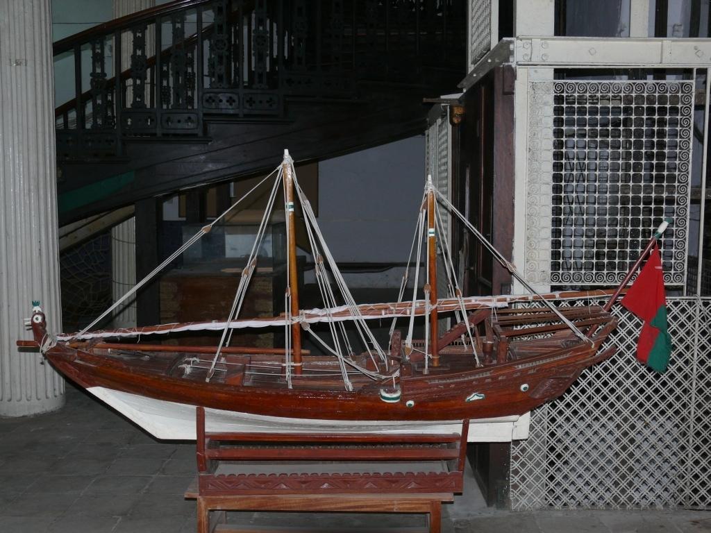 model lodi dhow (Muzeum Stone Town, Zanzibar)