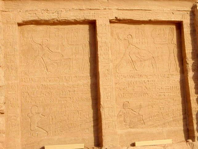 Poražení chetitského krále na stěně Abú Simbel