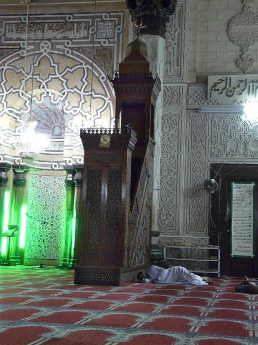Alexandrie mešita interiér