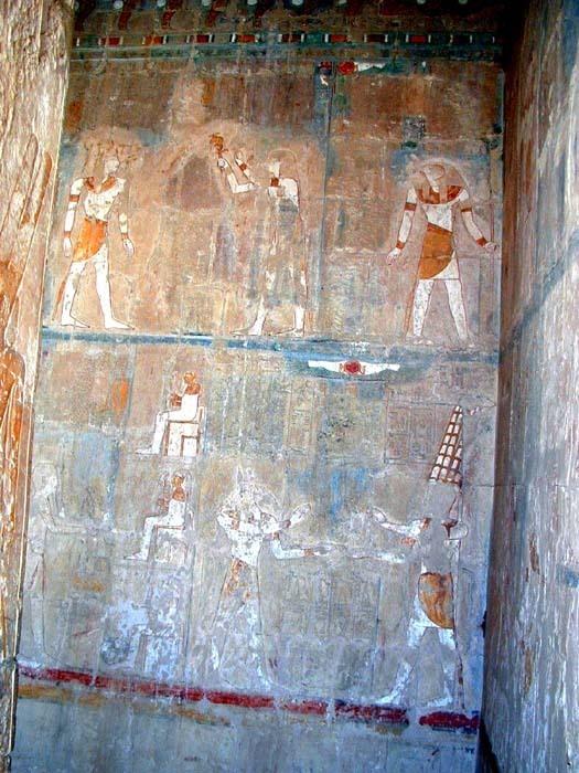 Malba v chrámu Hatšepsovet