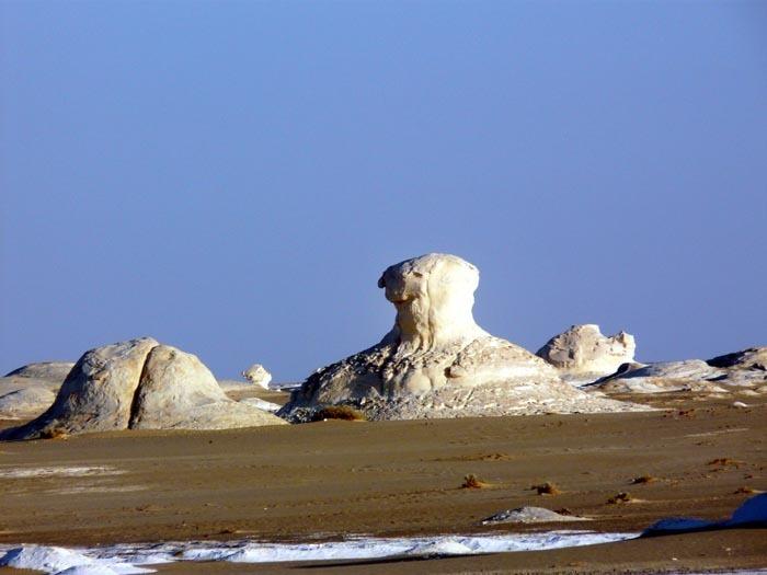 Bílá poušť skála