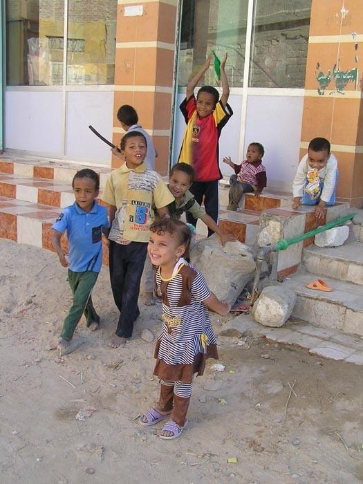 Děti v oáze Siwa