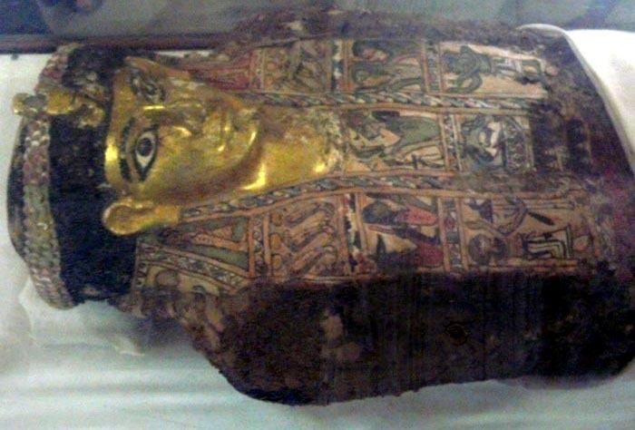 zlatá mumie v Bahariye