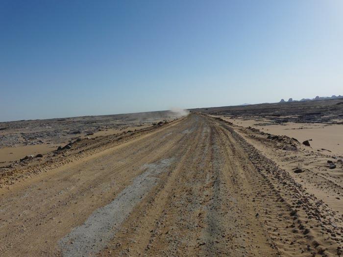 Nejhorší část silnice v Černé poušti