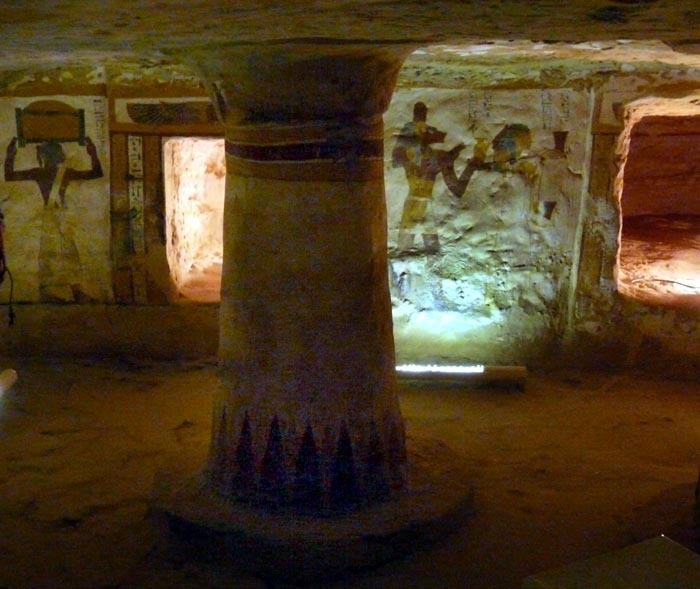 pohřební síň z Údolí zlatých mumií