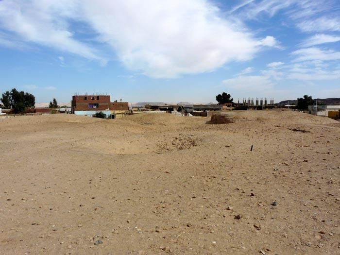 Údolí zlatých mumií shora