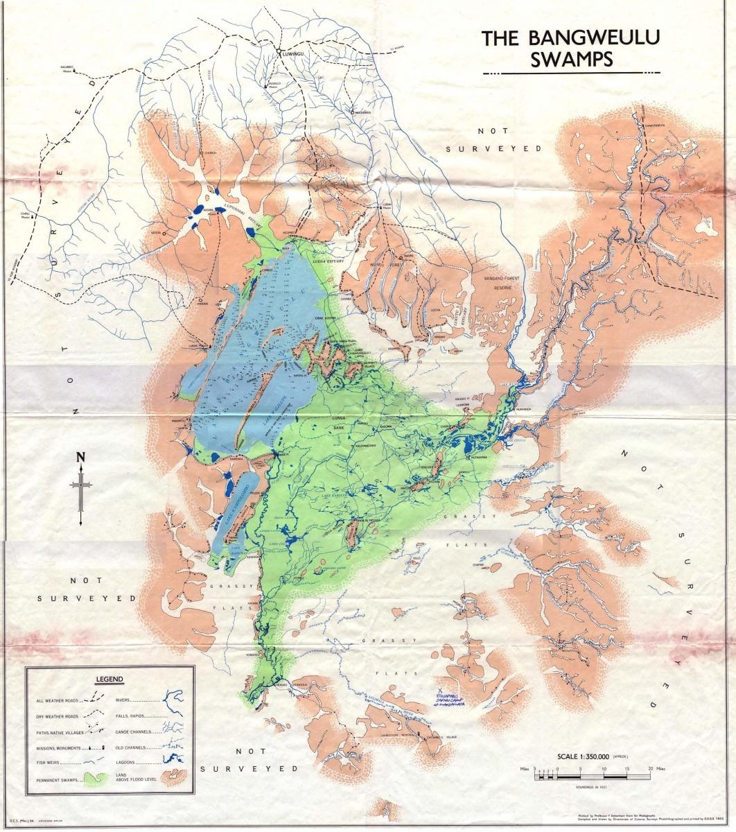 jezero Bangweulu a okolí