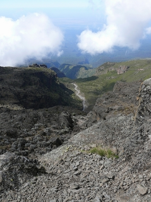 Breach Wall - Breakfast Wall - vrchol, Kilimandžáro