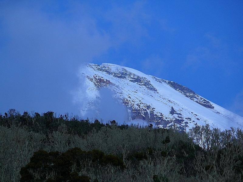 Kibo, Kilimandžáro - pohled od východu