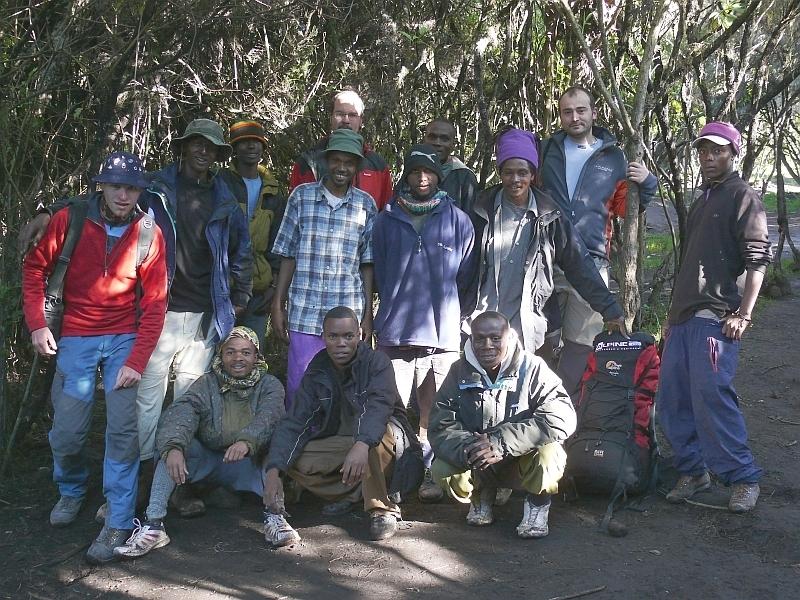 Společné foto skupiny, Kilimandžáro