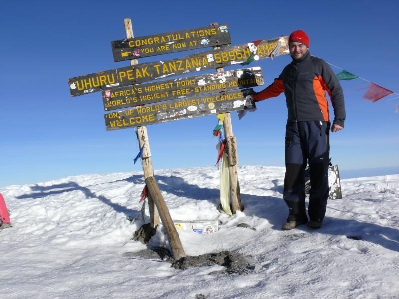 Kilimandžáro, vrchol Kibo