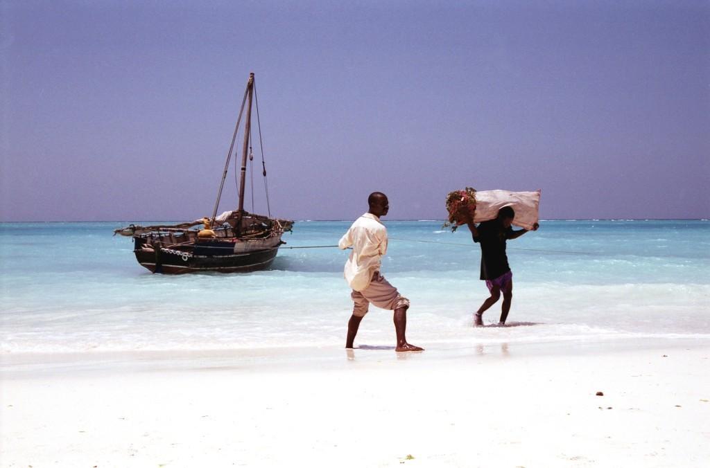 Dhow a Nungwi, Zanzibar (foto: Jaromír Němec, Tanzanie)