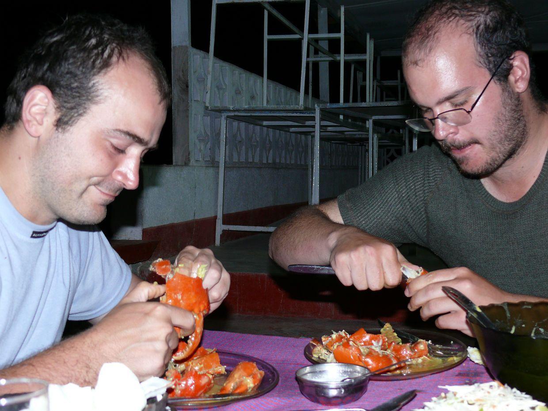 Večeře v Tanze - krabi
