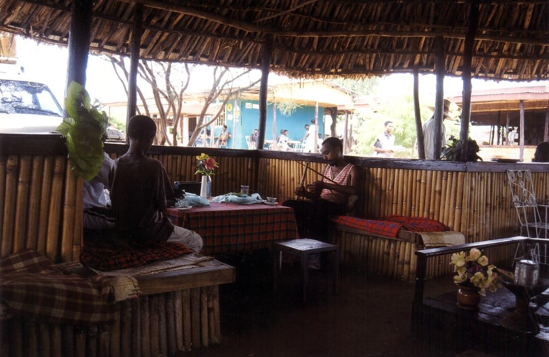 Pohoda s kátou jedlou (Weito restaurant, Etiopie)