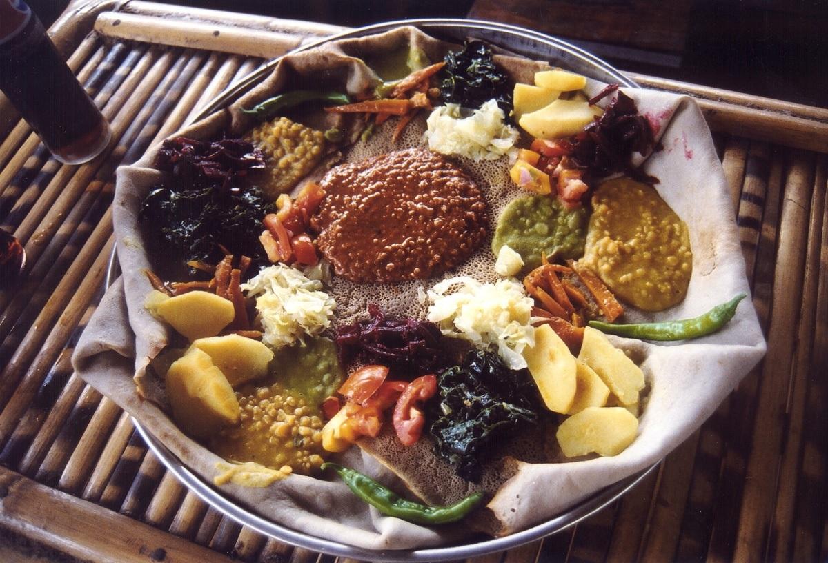Indžara (injera) - národní jídlo Etiopie