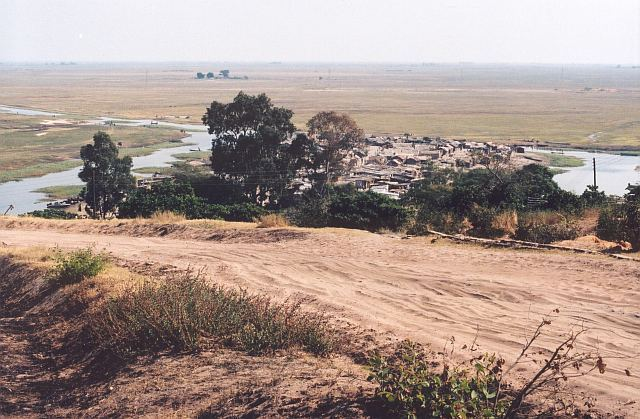 Mongu - pohled na přístav (Zambie)