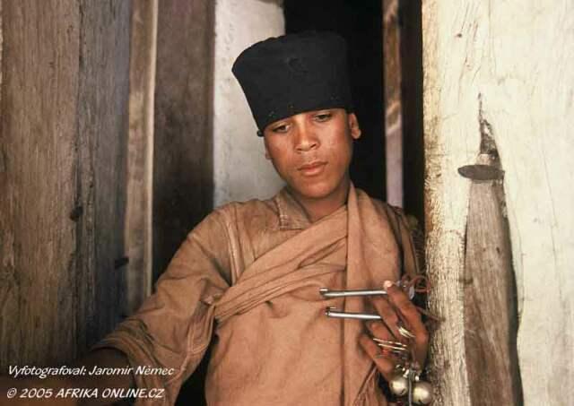 Mladý mnich (Dek Island, Lake Tana, Ethiopia)