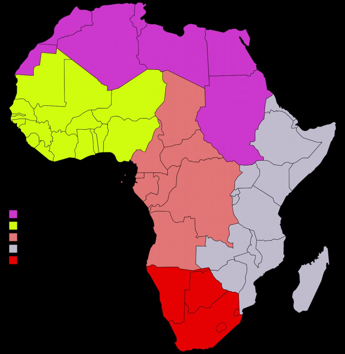 Afrika_Regionální členění