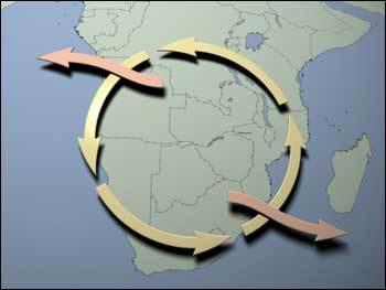 Cyklus ozonu v jižní Africe