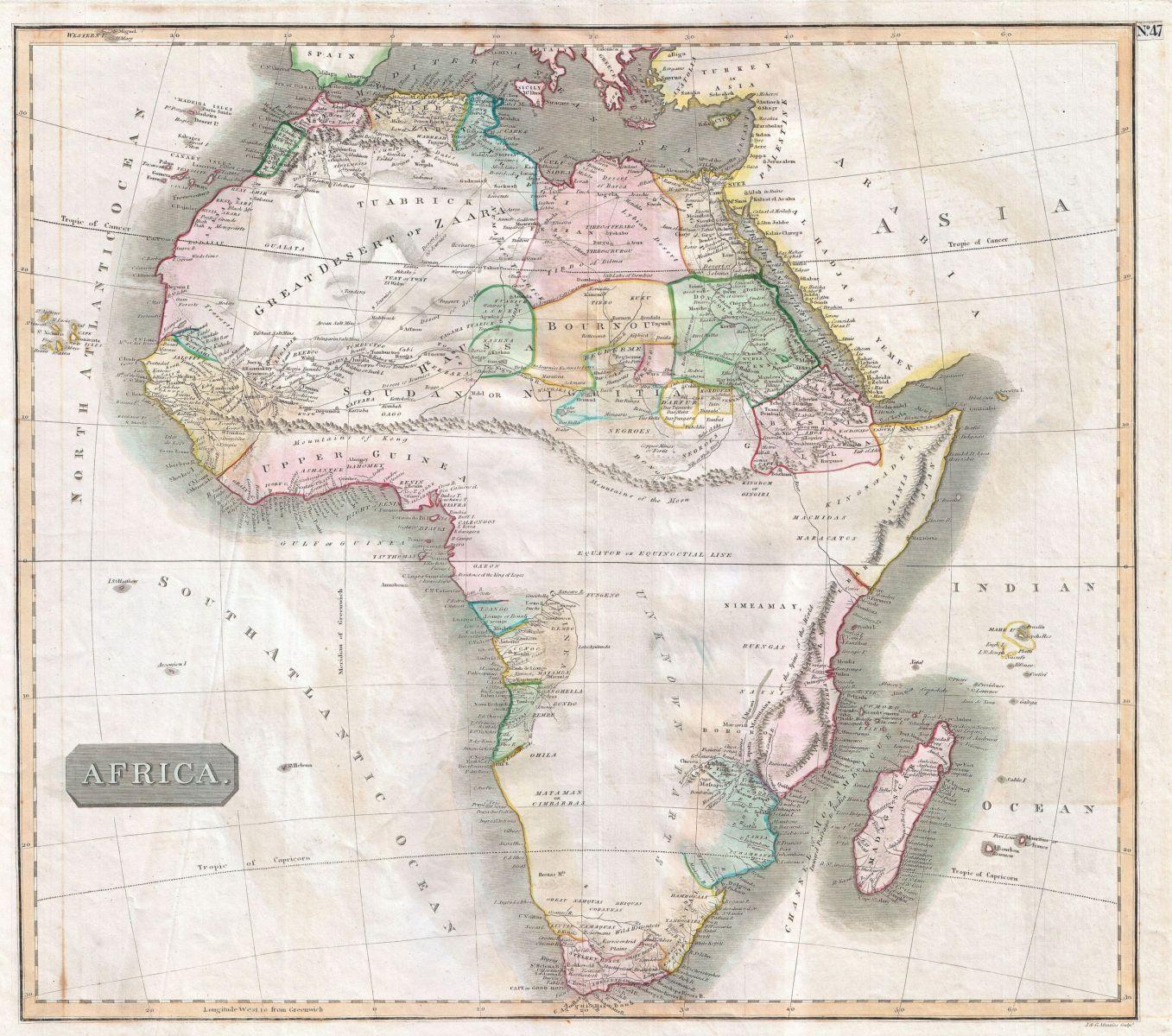 Thomsonova mapa r.1813