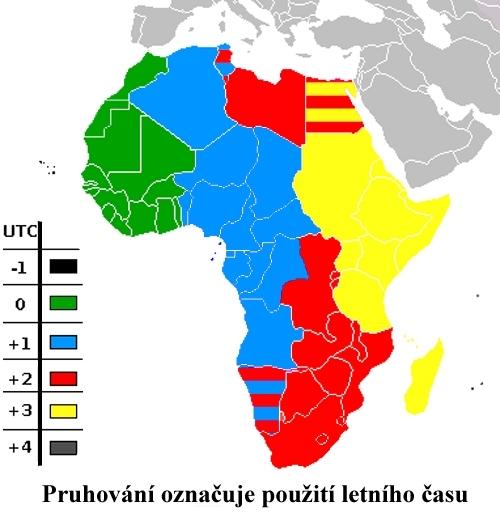Časová pásma v Africe