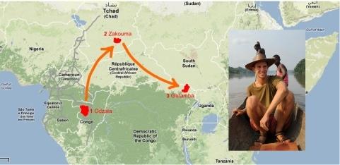 Arthur - mapa cesty