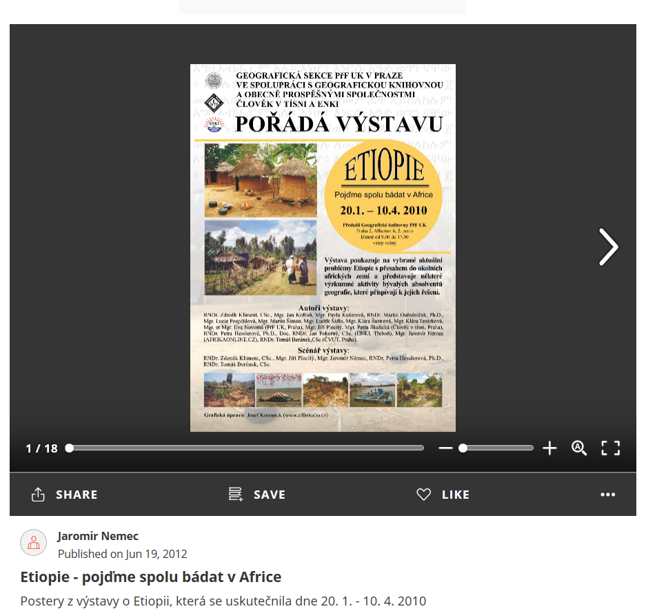 Etiopie - pojďme spolu bádat v Africe - postery