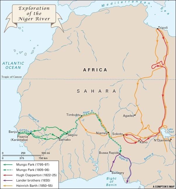 První výpravy k řece Niger