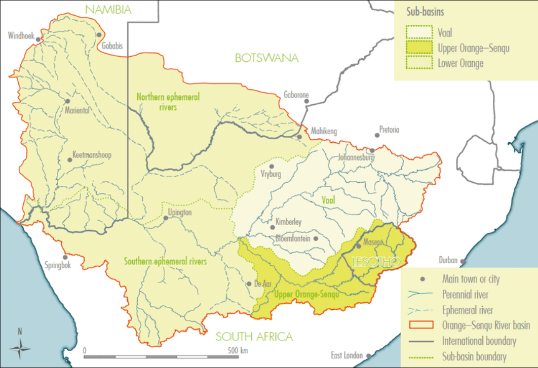 Orange-Senqu River Basin (ORASECOM 2014)