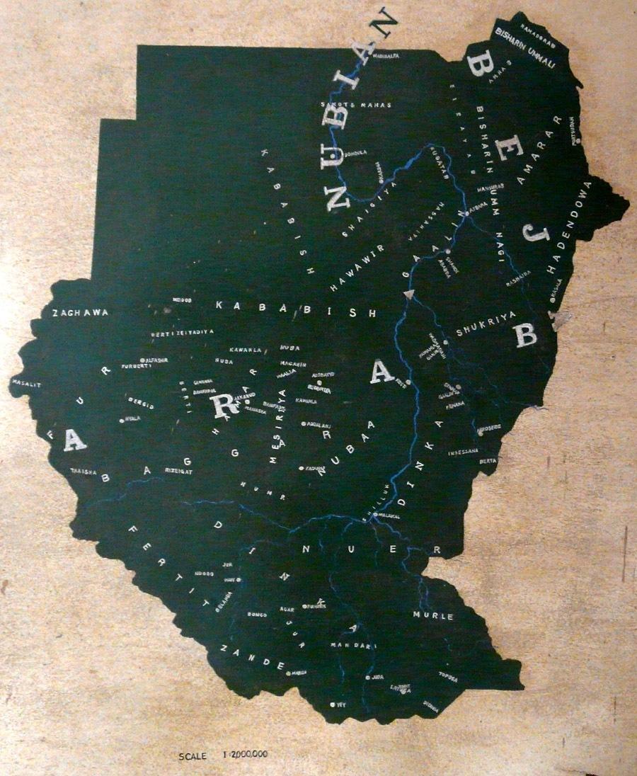 Mapa etnik v Súdánech