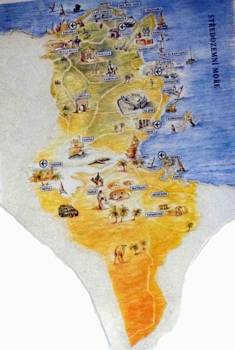 Tunisko mapka